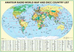 Радиолюбительская карта Мира (DXCC)
